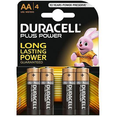 4 X Duracell Aa Plus Power Duralock Alkaline Batteries Cell Lr6 Non-rechargeable