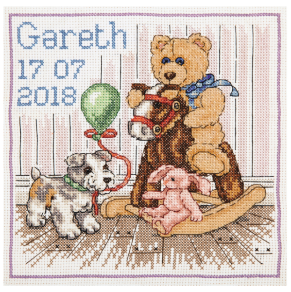Cross Stitch Kit Birth Record Twinkle Twinkle D03865 Dimensions