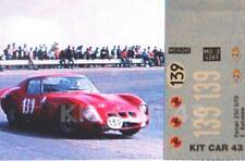 DECAL CALCA 1/43 FERRARI 250 GTO E. BATURONE SUBIDA A LA RABASSADA 1968