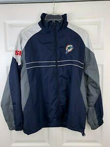 Vintage-Rare-Miami-Dolphins-SI-Large-Full-Zip-Windbreaker-Dunbrooke-Jacket