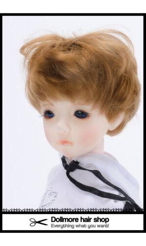"Carrot 1//6 BJD Yosd Narsha short cut wig /""  Enfant Short Cut Dollmore 7"