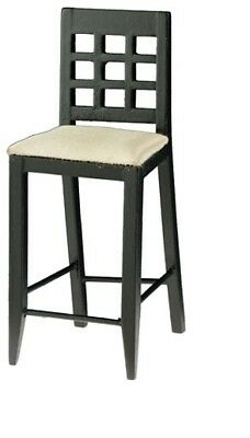 Black #CLA10109 Dollhouse Miniatures 1:12 Scale Side Chair