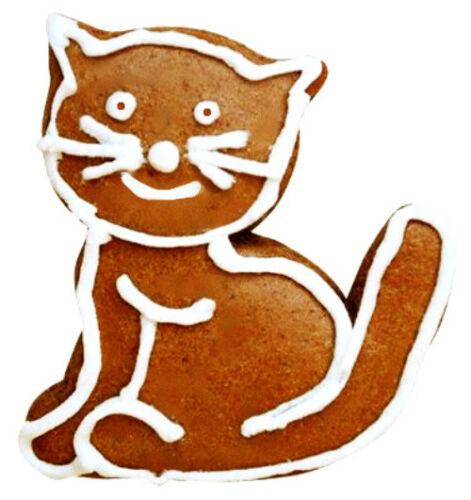 1 Ausstecher Ausstechform Katze 5,2x4,3cm Edelstahl