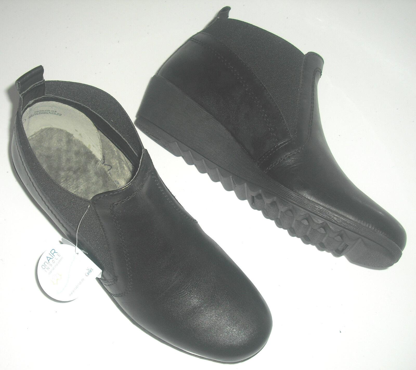 Caprice Schuhe Stiefeletten Leder schwarz