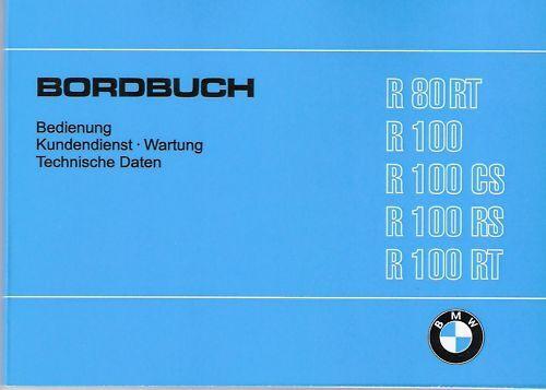 r100rs//r100cs Manuale di istruzioni BMW r100//R 100 RS CS RT NUOVO 80//r80