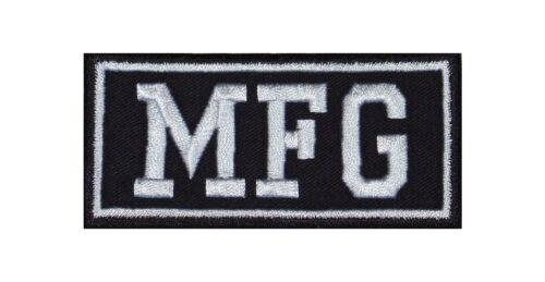 MFG = Motorradfahrgemeinschaft Biker Heavy Rocker Patch Aufnäher Kutte Badge