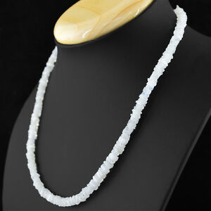 115-50-CTS-NATURAL-WHITE-MOONSTONE-UNTREATED-BEADS-NECKLACE-FREE-SHIPPING