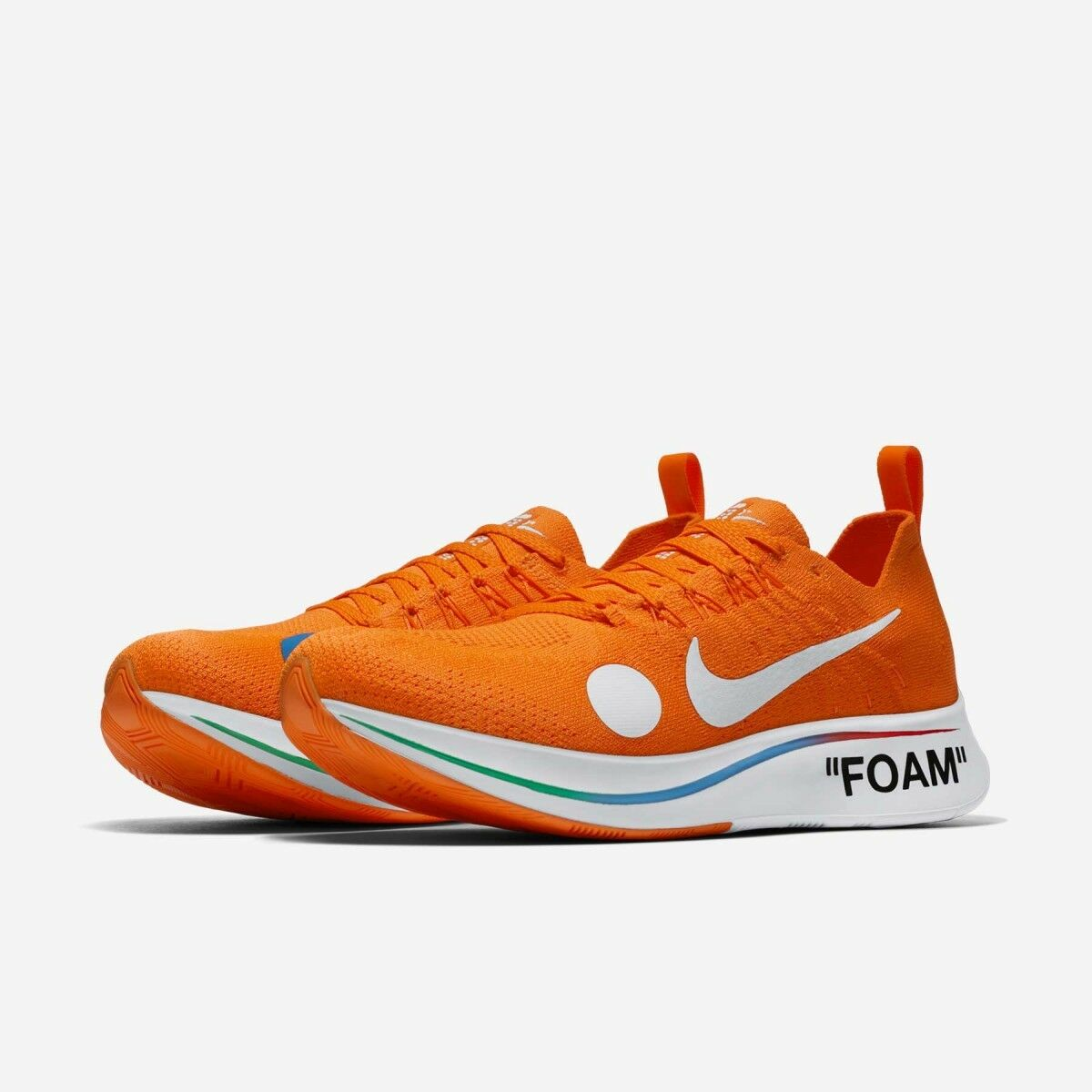 Nike x Off blanc Zoom Fly Mercurial Flyknit Orange7 US 8