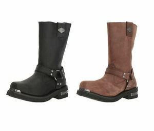 Harley-Davidson-Motorcycle-Boots-Riding-Shoes-Landon-Black-Tan-Nutme-All-Sizes