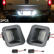 For 2003 18 Dodge Ram 1500 2500 3500 License Plate Rear Bumper Lights Led Lamps