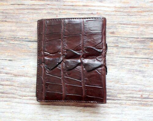Genuine Real Crocodile Alligator Tail Leather Skin Man Bifold Wallet Blue New