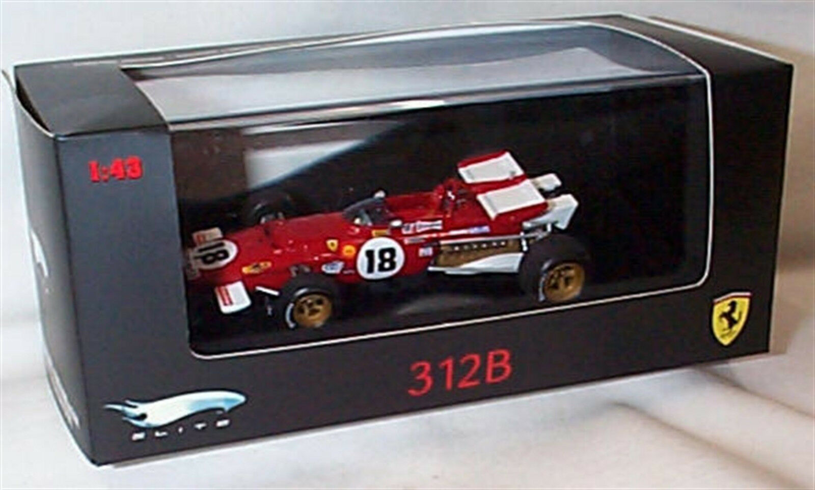 Ferrari 312B No 18 Racing Car Hot Wheels Elite Ltd Editions 1-43 Scale N5588
