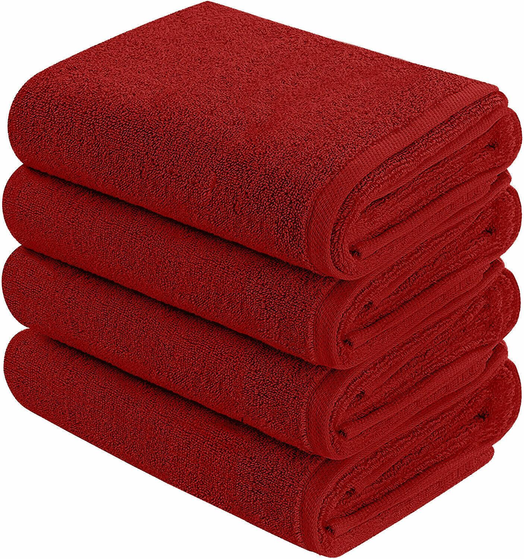 NEW Burgundy Color SUPER SOFT LUXURY PURE TURKISH 100% COTTON Bath Towels