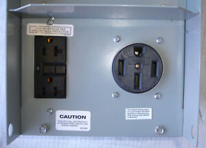 50 Amp Receptacle >> New Siemens Outdoor Power Outlet Box 20 50 Amp Gfi Ground Fault