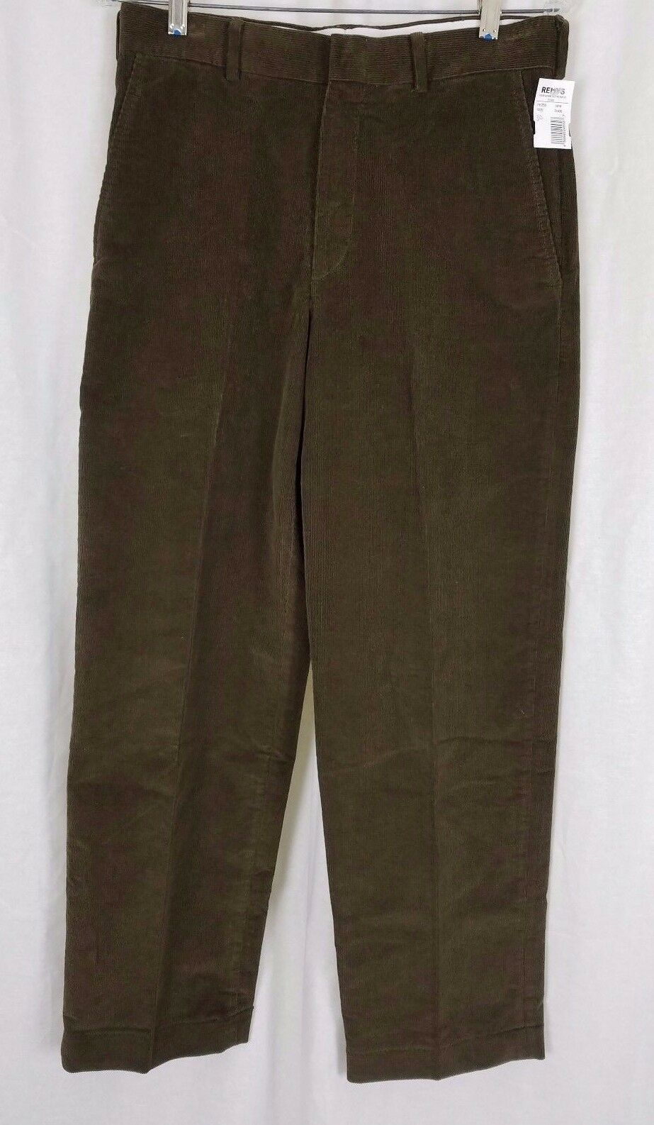 NWOT Lands End Traditional Fit Flat Front Cords Corduroy Pants Mens 31x29 Brown