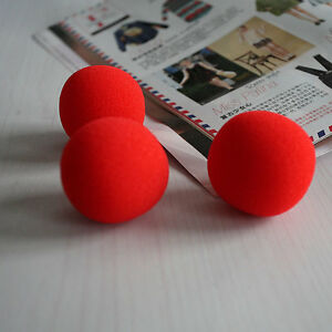 Close-Up-Magic-Street-Classical-Comedy-Trick-Soft-Red-Sponge-Ball-X-10-AT