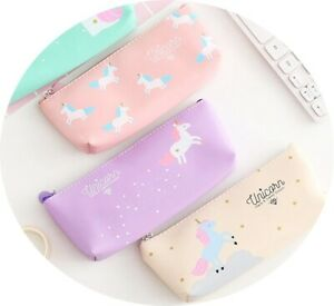 Unicorn-Dreams-Pencil-Case-Makeup-Bag-Cosmetic-Pen-Holder-Zipped