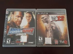 PlayStation PS3 WWE Smack Down VS Raw 2009 Complete game + WWE 12 no manual