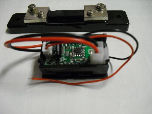 current shunt shunt size; 120mm LCD DC0~19V,4.74A Red Volt /& Ammeter 35mmx18mm