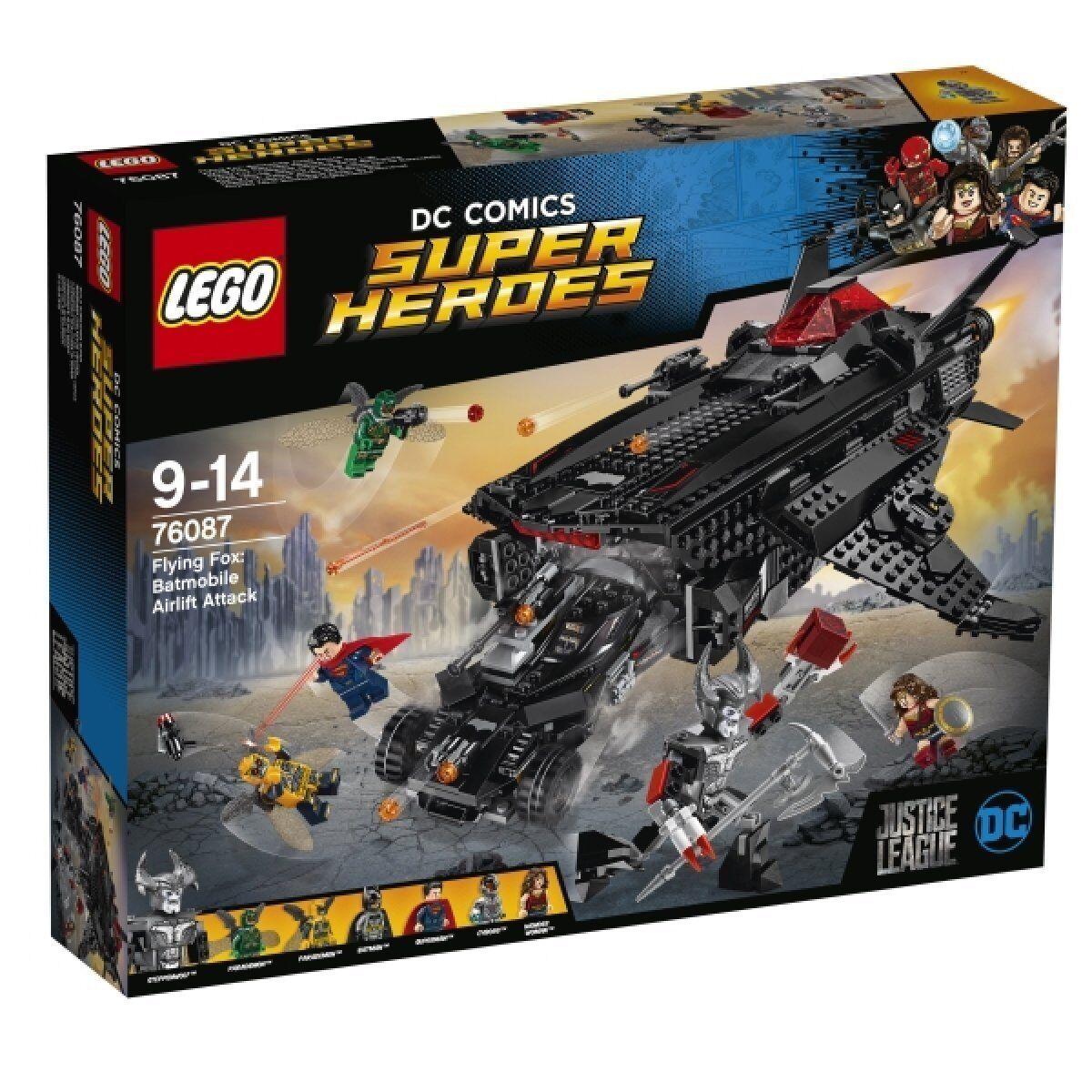 LEGO 76087 DC Comics Super Heroes Flying Fox Batmobil-Attacke aus der Luft NEU