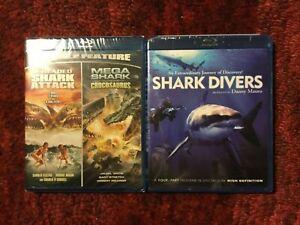2 Headed Shark Attack & Mega Shark vs. Crocosaurus + Shark Divers : 2 Blu-ray