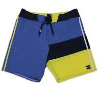 Oakley Slash Blue Yellow 30 S Mens Swim Surf Beach Boardies Board Shorts