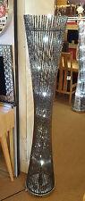 Modern Floor Standing Lamp Aluminium/Metal Twist Wire Round 148x30cm Black LED