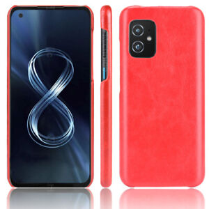 For ASUS Zenfone 8, Luxury Shockproof Classic Hybrid PU Leather Hard Case Cove