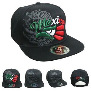 fb50b6b5 Details about Mexico Baseball Cap Hecho En Mexico Eagle Flat Bill Snapback  Hip Hop Outdoor Hat