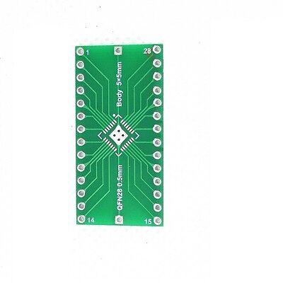 2//5//10PCS QFN28 0.4mm 0.5mm to 2.54mm DIP Adapter PCB Adapter board