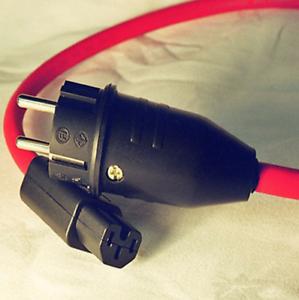 Ecosse / BIG RED HC / 1m EU Powercord / Schuko / IEC / Audiofile Stromkabel.