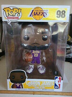 Funko POP NBA - Lakers - 10 inch Lebron James Purple Jersey Vinyl Figure #98 w4K 889698523592 | eBay