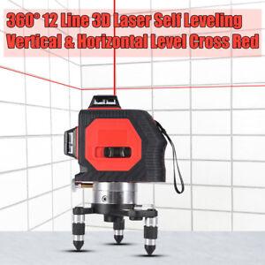12-LINEA-360-ROTANTE-LIVELLA-LASER-AUTOLIVELLANTE-AUTOMATICA-3D-ROSSO-MI