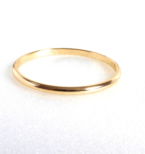 Details about  /Ring Size N O S T Width 1.5mm 18K Gold Plated Classic Wedding Band Men Women UK