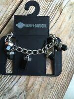 Harley-davidson Black Gemstone Bracelet 97768-16vw