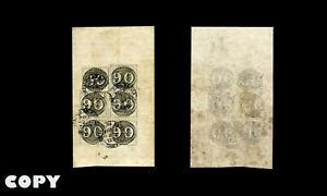 BRAZIL-BULL-EYE-1843-THE-COVER-OF-RIO-FIVE-90-REIS-amp-30-REIS-SINGLE-COPY