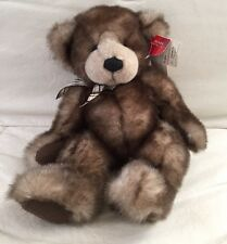 """Russ Berrie Amram's Capuccino Plush Teddy Bear From the Past + Hang Tags 14"""""""