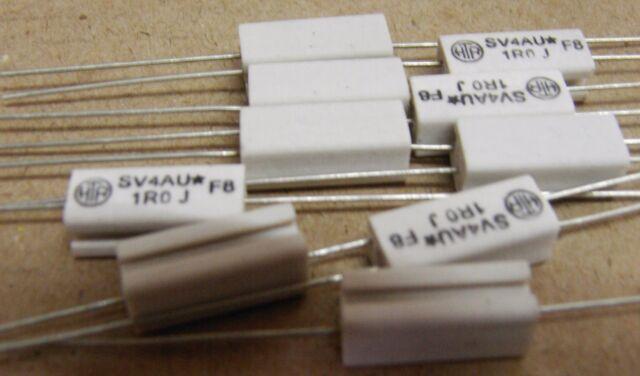 10 x 1R 4W wirewound resistors  HTR SV4AU*J1R0