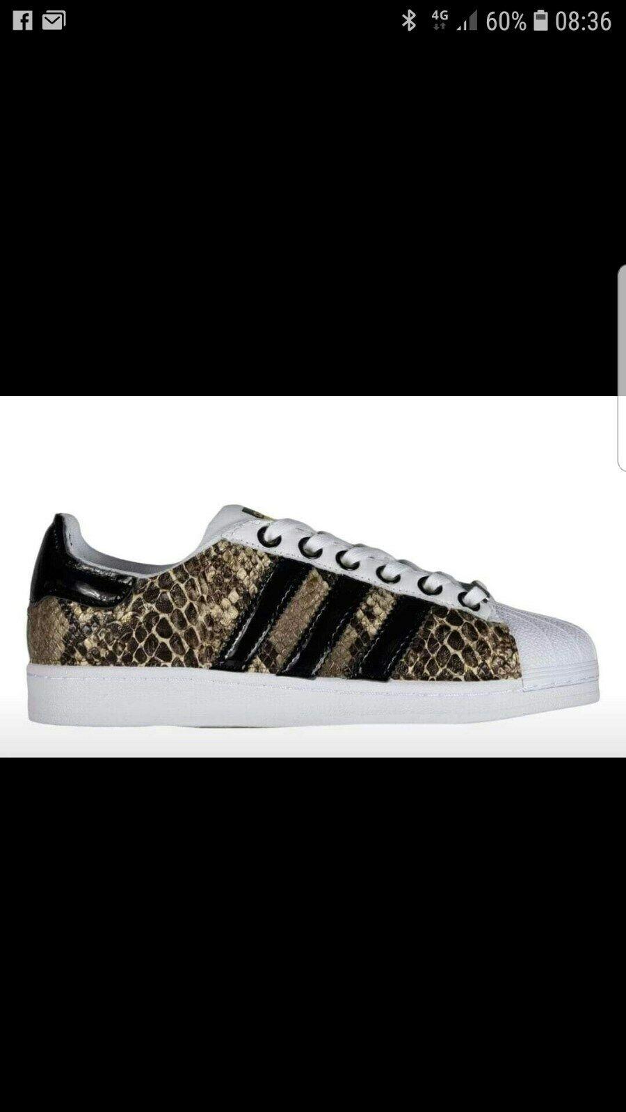 shoes adidas super star con pitonato e tessuto black lucido