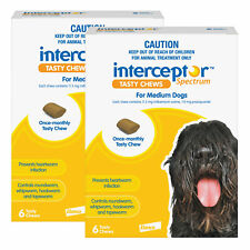 Interceptor Spectrum For Dogs 11-22kg Yellow 12 Chews