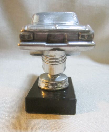 1960/'s Charger car auto trophy paperweight polished aluminum USA made