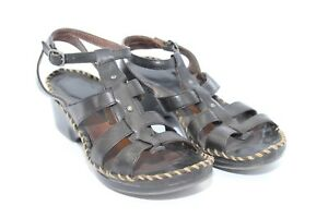 Ariat-Women-039-s-Black-Leather-Wedge-Heel-Sandals-No-Size-See-Measurements