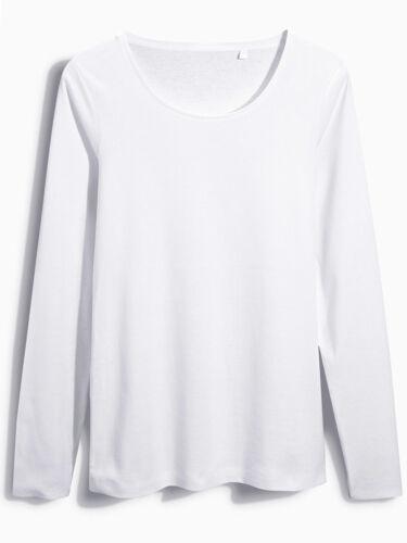 Next Plus blanc pur coton encolure échancrée Basic Top