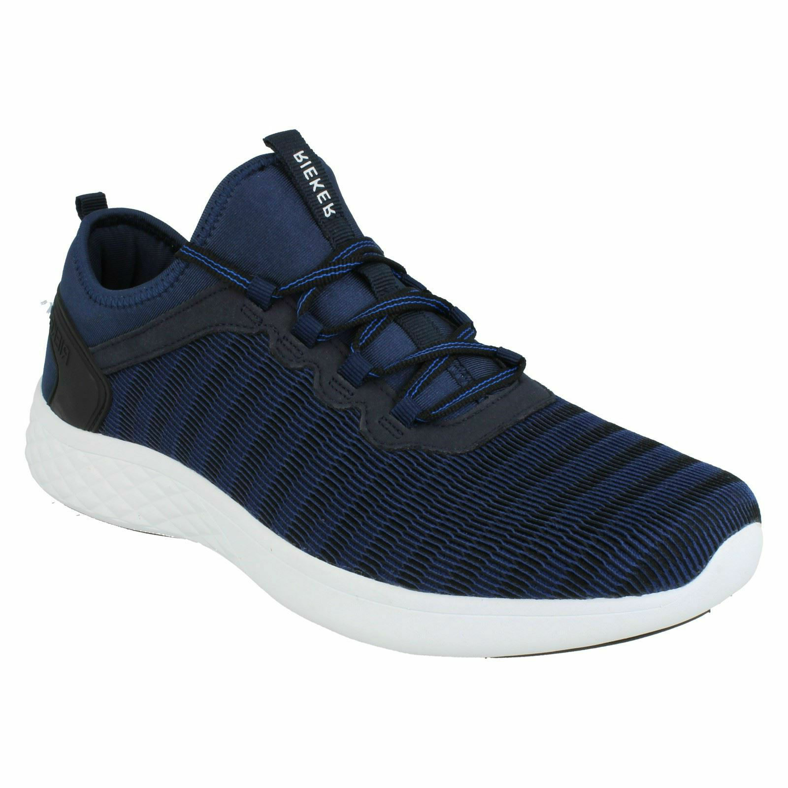 RIEKER MENS B9753 blueE LIGHTWEIGHT LACE UP TRAINERS CASUAL EVERYDAY SHOES SIZE