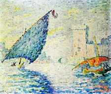 Metal Sign Marseille Fishing Boats 1907 A4 12x8 Aluminium