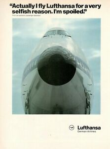 1980-Original-Advertising-039-Lufthansa-Germany-Airlines-I-039-M-Spoiled