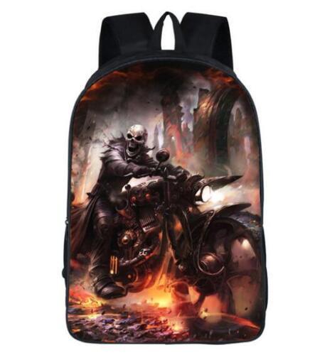 New Grim Reaper Skull Vegeta Son Girls Boys School Backpack Kids Gift Book Bag