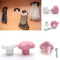 Cute Heart Door Knobs Ceramic Cupboard Drawer Sideboard Kitchen Pull Handle