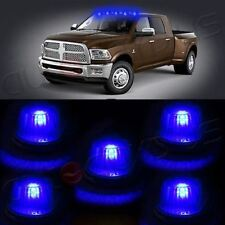 5x Cab Marker Roof Running Lamps+base+ Blue 168 8SMD LED Lights For FORD Truck