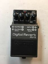 Boss Roland RV-5 Stereo Digital Reverb 6-Modes Guitar Effect Pedal RV5